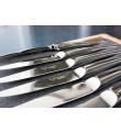 6 Laguiole En Aubrac blankt stainless steel steakknive - Monobloc