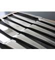 12 Laguiole En Aubrac blankt stainless steel steakknive - Monobloc