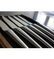 6 Laguiole En Aubrac Mat stainless steel steakknive - Monobloc