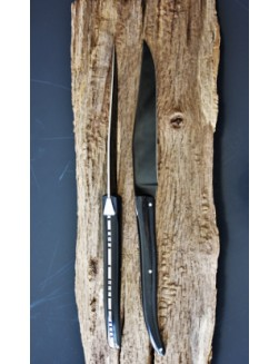 6 Laguiole En Aubrac steakknive i sort paperstone